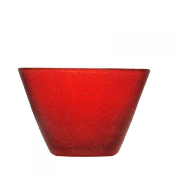 Small Bowl Red Memento Originale GMA personalizzazione vetro