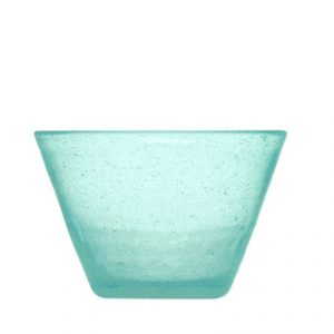 Small Bowl Turquoise Memento Originale GMA serigrafia su vetro