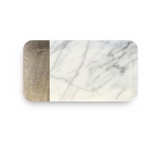 Vassoio Grande Carrara in melamina 38×19 Touch Mel GMA serigrafia