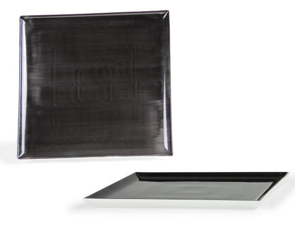 Vassoio Quadrato Nero 30 cm