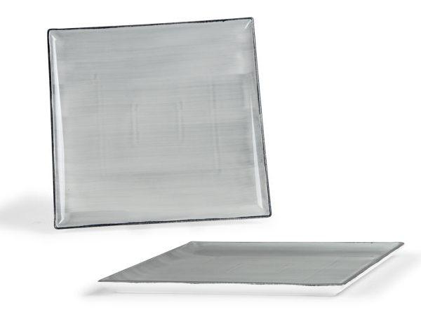 Vassoio Quadrato Grigio 30 cm