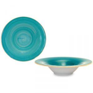 Piatto Pasta Brush Tiffany 30 cm Le Nouveau Coq GMA serigrafia su vetro personalizzabile
