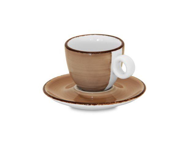 Set Tazzine Caffè Brush Tortora GMA serigrafia VR