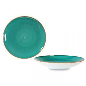 Vassoio Tondo Fondo Tiffany 30 cm Le Nouveau Coq GMA serigrafia su vetro