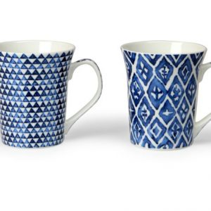 Tazza Mug Arabesque Blu 38 cl GMA serigrafia
