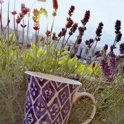 Tazza Mug Arabesque Blu 38 cl GMA Serigrafia su vetro