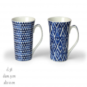 Tazza Mug Arabesque Blu