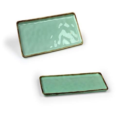 Vassoio Rettangolare Emozioni Verde 30×13 cm