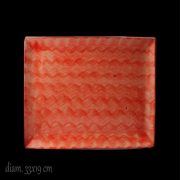 Vassoio Rettangolare Guadi Rosso 33x19 cm