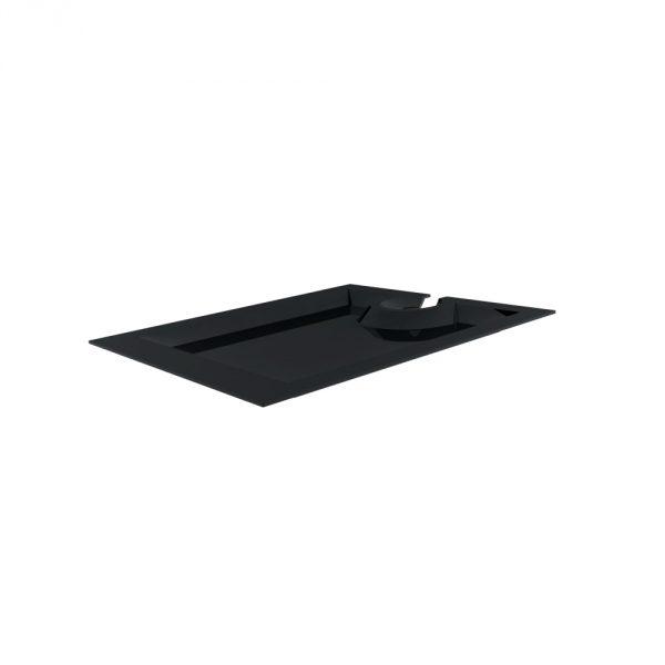 Piatto Aperitivo Rettangolare 20×23 cm Nero per buffet GMA serigrafia su vetro