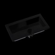 Piatto Aperitivo Nero Rettangolare 23x12 cm