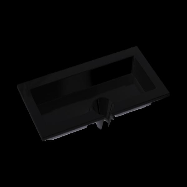 Piatto Aperitivo Nero Rettangolare 23×12 cm