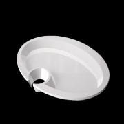 Piatto Aperitivo 20x15 cm bianco piatto buffet GMA serigrafia personalizzazioni