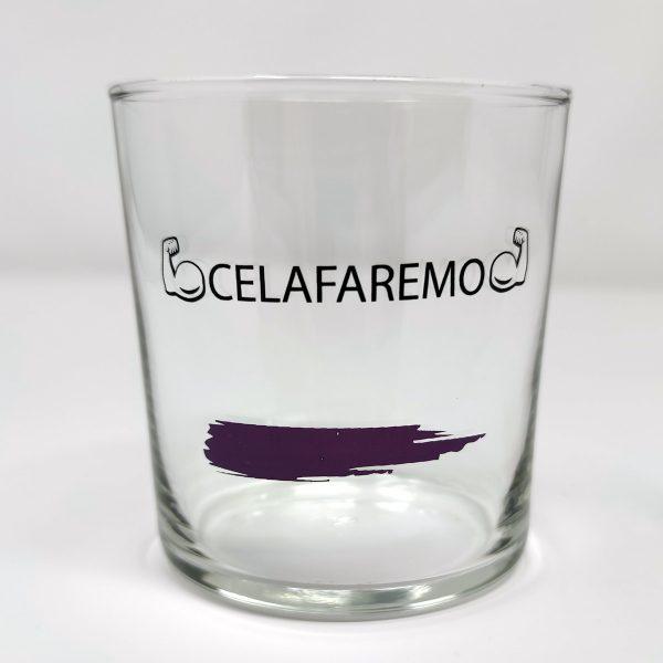 Bicchiere Arcobaleno viola 36.6 cl CELAFAREMO