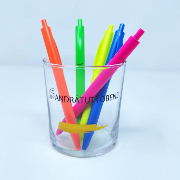 Bicchiere portapenne Arcobaleno 36.6 cl GMA Serigrafia personalizzazione vetro
