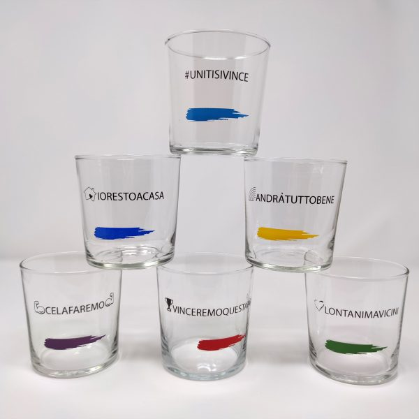 Bicchieri Arcobaleno 36,6 cl per acqua, bibite, drink, vino, cocktail