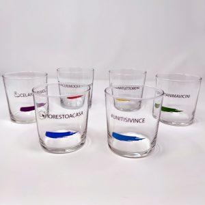 Bicchieri Arcobaleno 36,6 cl GMA per bibite, acqua, vino, succo, drink, cocktail