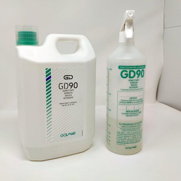 Disinfettante GD90 con SpruzzinoGolmar GMA Serigrafia