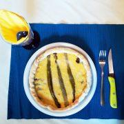 Piatto per asporto 26 cm per torta salata con formaggio e asparagi GMA serigrafia