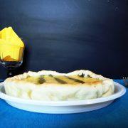 Piatto per delivery bianco 26 cm per torta salata con formaggio e asparagi GMA serigrafia