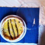 Coperchio trasparente per piatto di plastica bianco 26 cm torta salata con formaggio e asparagi GMA serigrafia delivery
