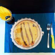 Coperchio trasparente per piatto asporto bianco torta salata con formaggio e asparagi GMA serigrafia