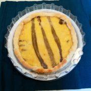 Coperchio 26 cm per piatto di plastica bianco torta salata con formaggio e asparagi GMA serigrafia