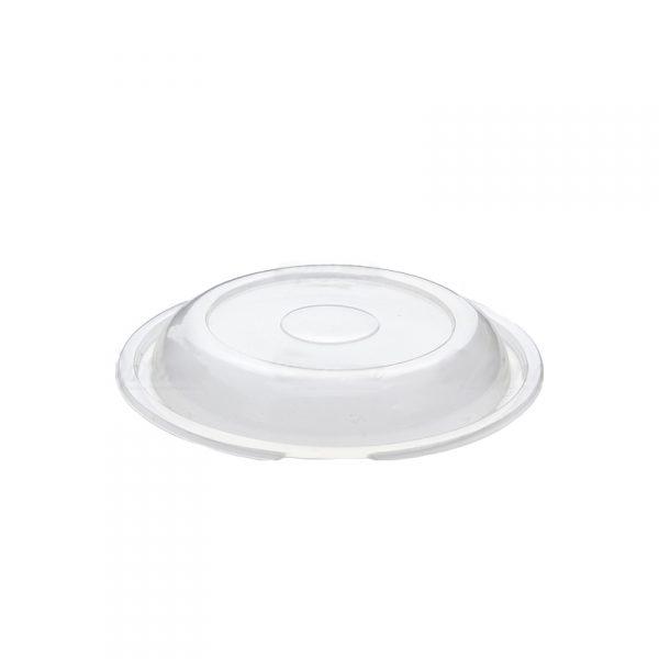 Coperchio per piatto tondo nero per delivery GMA