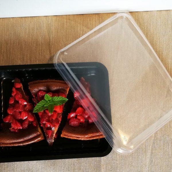 Coperchio per vaschetta per delivery per cheescake cotta con mascarpone e fragole GMA Serigrafia