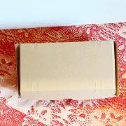 Scatola Avana con coperchio per asporto 20,5×10,7 cm GMA serigrafia