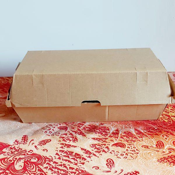 Scatola Avana con coperchio per aporto domicilio 20,5×10,7 cm GMA serigrafia