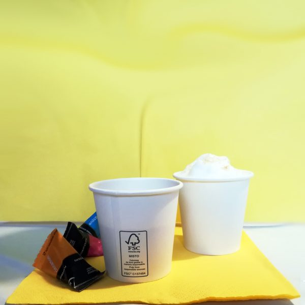 Bicchieri Caffè consegne domicilio polpa di cellulosa GMA serigrafia