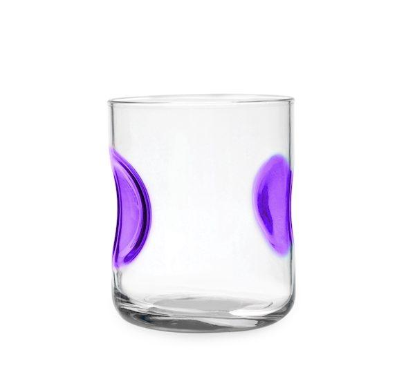 Bicchieri Acqua 31 cl Giove viola, colori assortiti Bormioli Rocco GMA personalizzazione vetro