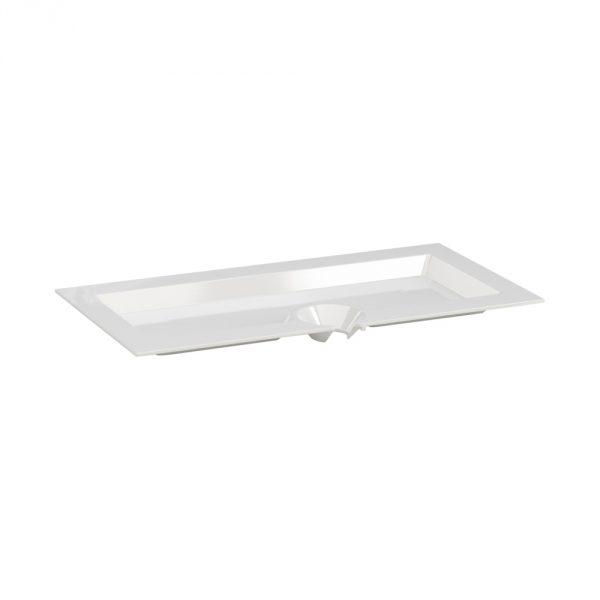 Piatto Aperitivo Rettangolare 23×11 cm Bianco per buffet e aperitivi GMA serigrafia