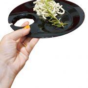 Piatto Aperitivo 22x23 cm Nero per catering e aperitivi GMA personalizzazione vetro