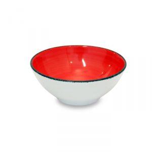 Insalatiera Brush Rosso Corallo 17 cm Le Nuveau Coq GMA piatti e calici vetro