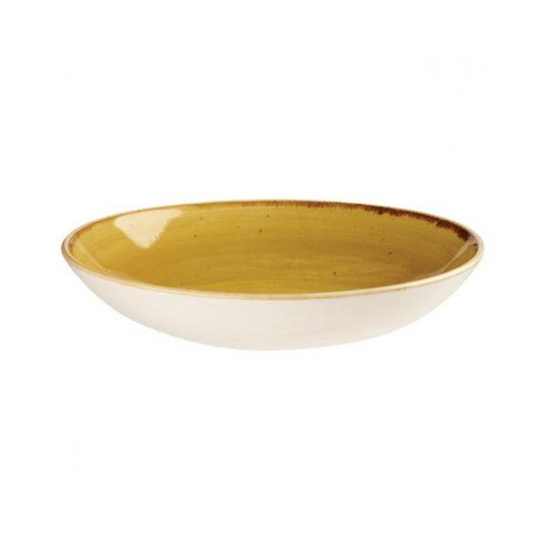 Piatto Fondo Coupe Giallo 25 cm Stonecast Churchill GMA serigrafia su vetro e porcellana