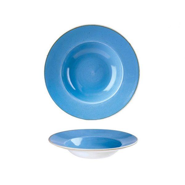 Piatto Pasta Blu 24 cm Stonecast Churchill Pastabowl GMA serigrafia vetri e porcellane