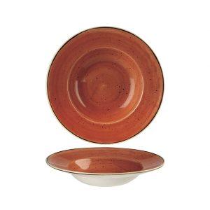 Piatto Pasta Arancio 24 cm Stonecast Churchill Pastabowl GMA serigrafia vetri e porcellane