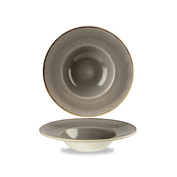 Piatto Pasta Grigio 24 cm Stonecast Churchill Peppercorn Grey Pastabowl GMA serigrafia vetri e porcellane