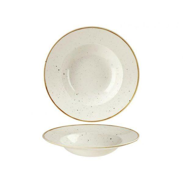 Piatto Pasta Bianco 24 cm Stonecast Churchill Pastabowl GMA serigrafia vetri e porcellane