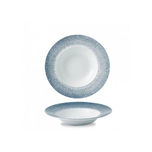 Piatto Pasta Blu Topazio 24 cm Raku Studio Prints Churchill GMA vetro e porcellana verona