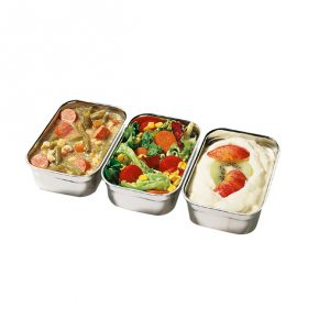Vaschetta inox universale per contenitore DUO Menut GMA asporto e delivery