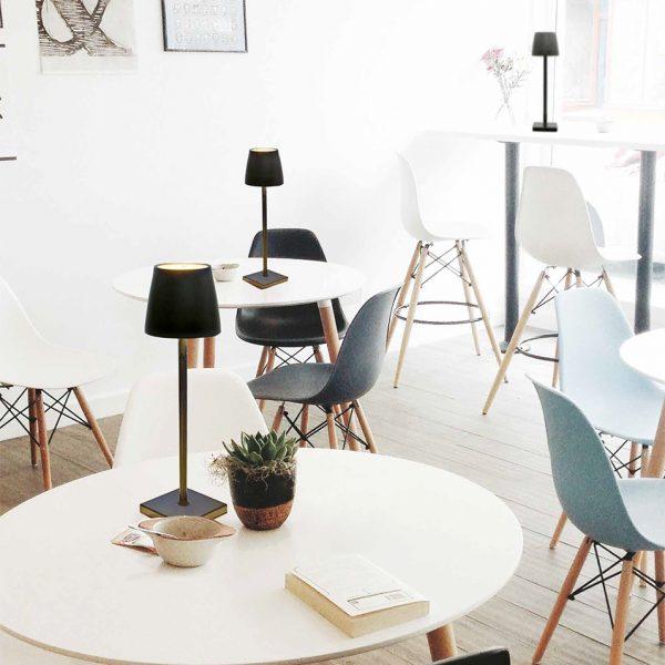 Lampada tavolo LED Nera GMA attrezzature ristorazione Verona