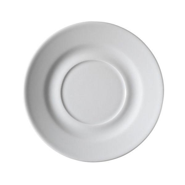 Piattino per tazza caffè Bianca Pera Kutahya Porselen GMA serigrafia vetro porcellana
