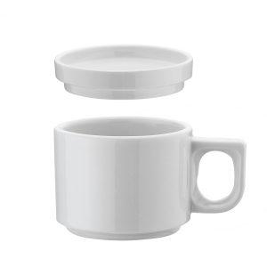 Coperchio per Tazza Caffè Bianca Pera Kutahya Porselen GMA attrezzature alberghiere