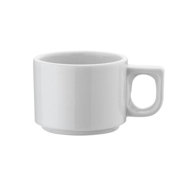 Tazza caffè Bianca Pera Kutahya Porselen GMA serigrafia vetro porcellana