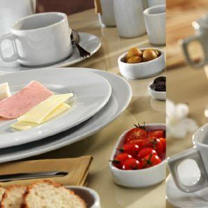 Tazza Colazione Bianca 25 cl Pera senza piattino Pera Kutahya Porselen GMA serigrafia attrezzature ristoranti