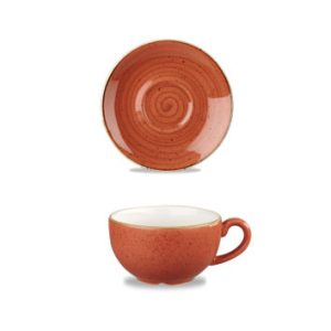 Piattino Tazza The Arancio 15,6 cm Churchill Stonecast - GMA porcellana e vetro