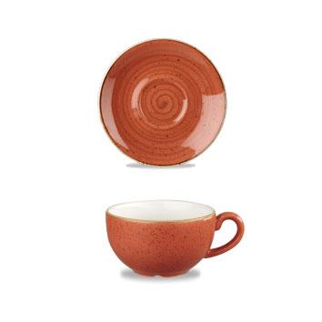 Piattino Tazza The Arancio 15,6 cm Churchill Stonecast – GMA porcellana e vetro